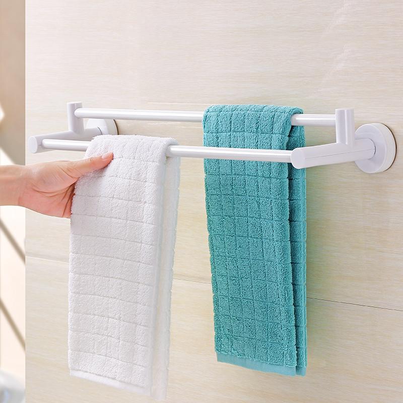 Cocoa sucker double towel rack free punch towel rack bathroom toilet ...