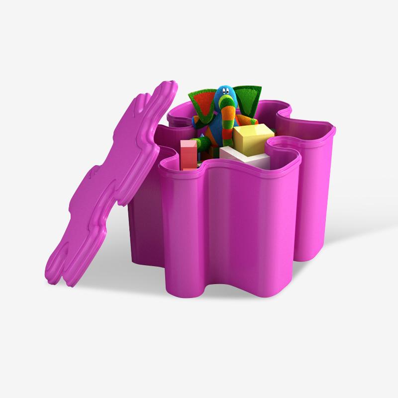 Shuai Li storage box storage stool Candy-colored PP plastic bedroom ...