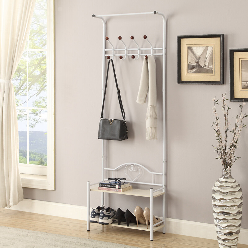 Yake Set Multi Function Hall Coat Rack Living Room Bedroom Storage Rack  Shoe Rack White ML 13151WH