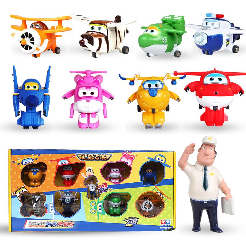 Children S Toys Super Flying Man Aircraft Model Deformation Robot