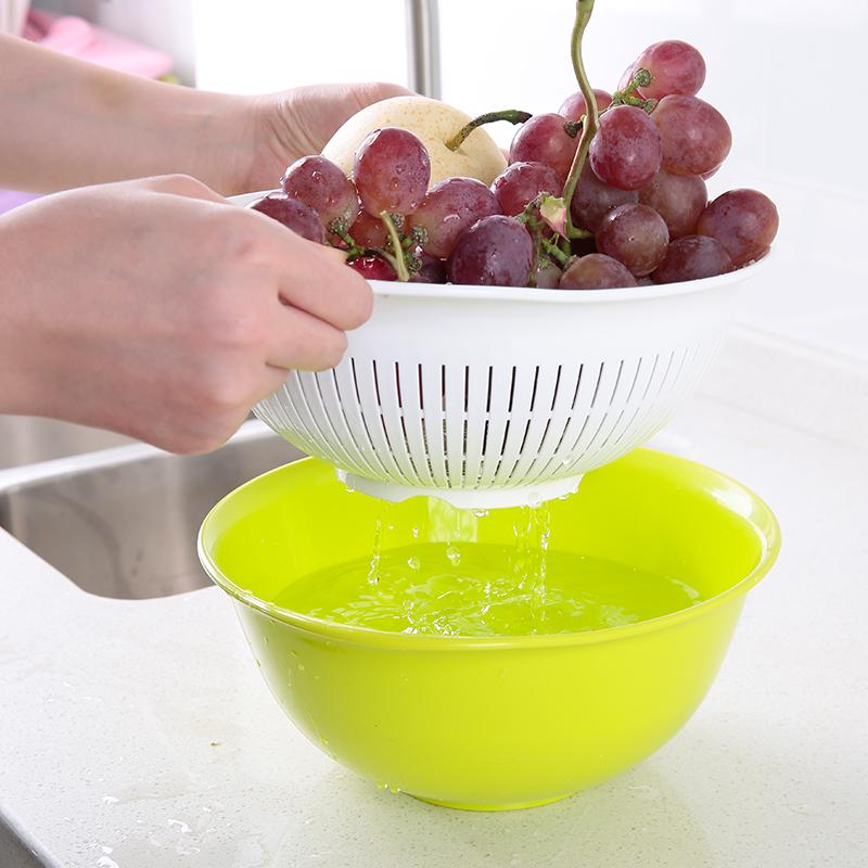 Fasola Fruit And Vegetable Washing Basin Double Drain Basin Fruit