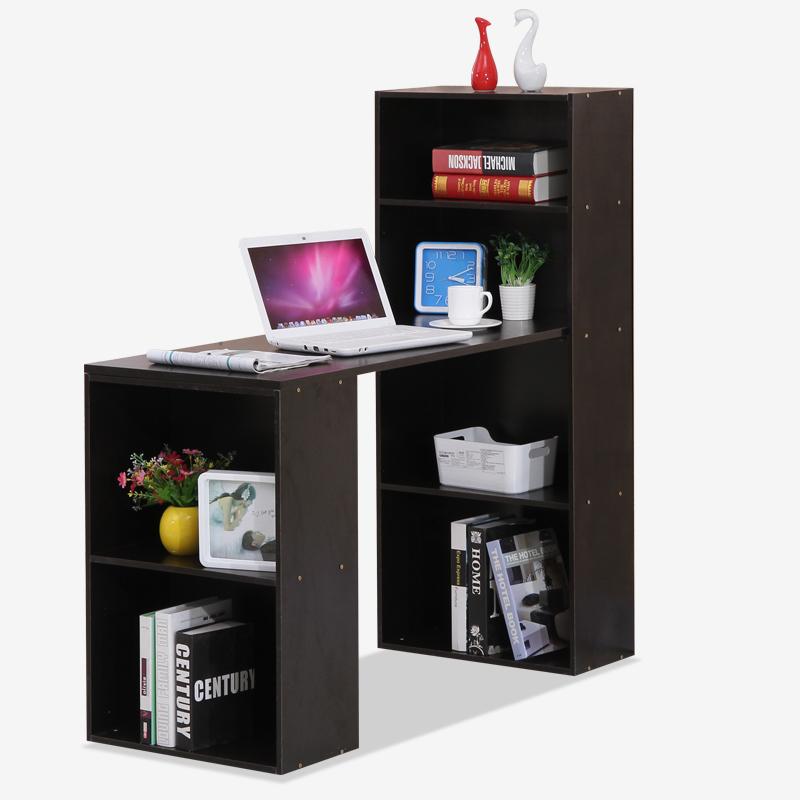 Peng Friend Furniture Simple And Stylish Multi Function Computer Desk Desk  Laptop Desk Black Walnut Color PY DK62