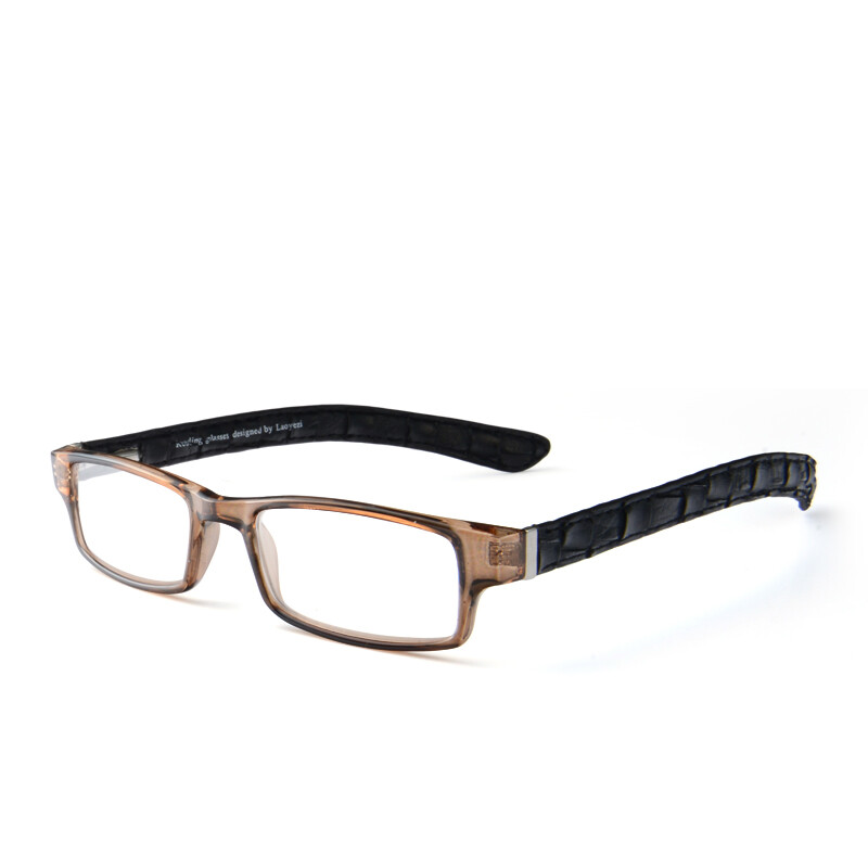 LaoYeZi fashion PU wide-wide frame reading glasses for men and women ...