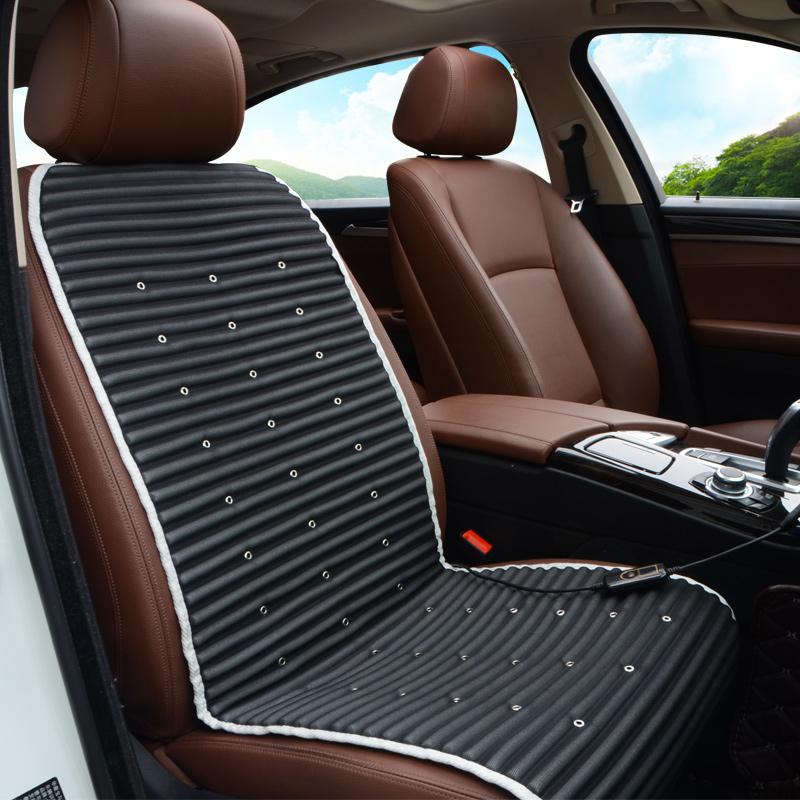 Jin Yu Dian Car Seat Cushion Summer Cover Cooling Electric Ventilation Ice Silk Pad Single 12V24V Black