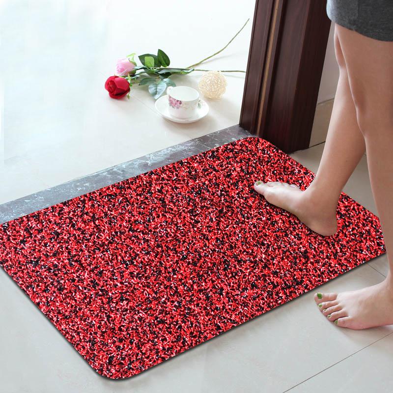 Floor Mat Door Mat Door Entrance Mat Door Door Mat Mat Door Mat Door Hall Door  Mat Black Red Absorbent Mat 40*60 Borderless