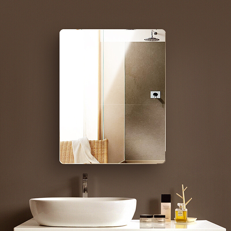 Harlowton HALODN Dressing Mirror Bathroom Mirror Wall Mounted Toilet Mirror  Mirror Frameless Paste Wall Hanging Mirror Decorative Mirror Right Angle  30*42 ...