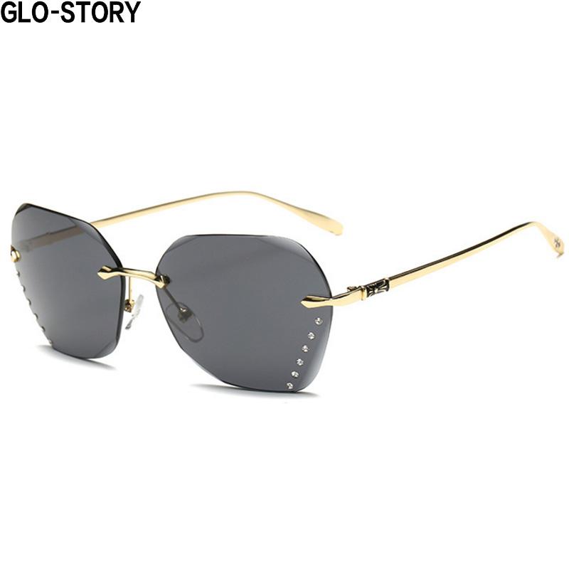 GLO-STORY Sunglasses Women\'s Gradient Ocean Color Large Frame ...