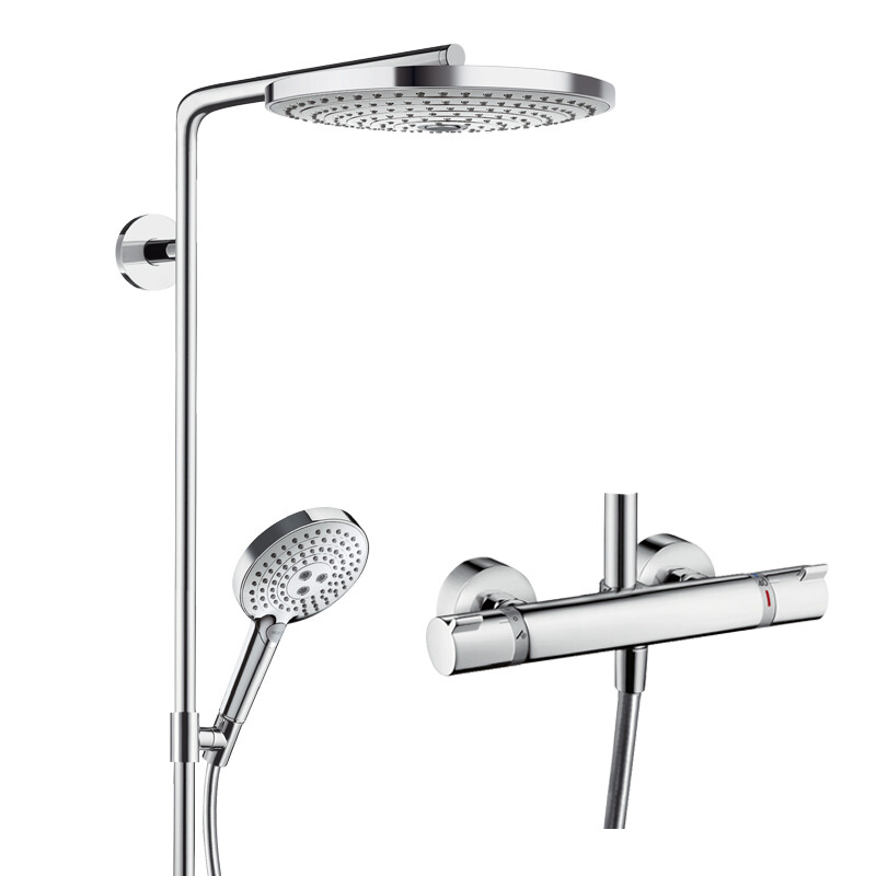 Hansgrohe 27133400 Raindrop Select 300 Shower Head Thermostatic ...
