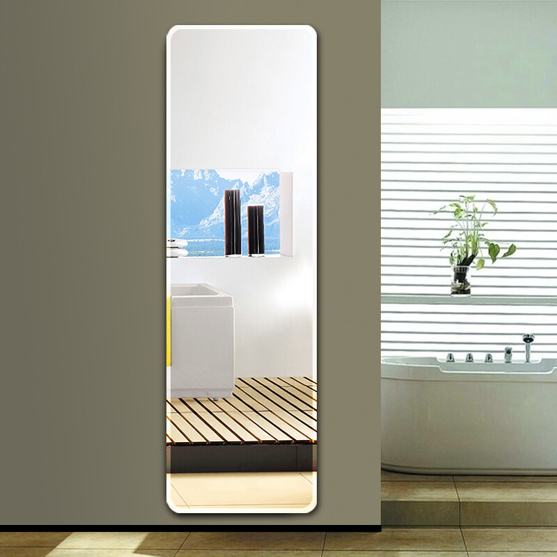 Mansfield Mirrors Full Body Mirror Paste Clothing Mirror Wall Hanging  Simple Frameless Mirror Bedroom Fitting Mirror Dormitory Wall Mirror  Rounded Beveled ...