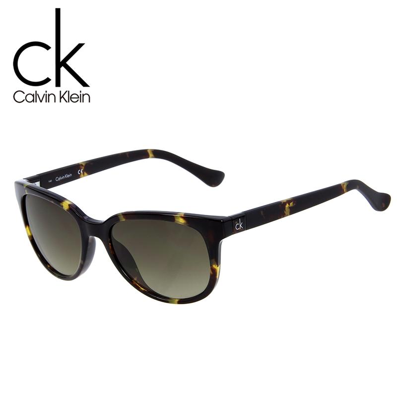 Calvin Klein sunglasses women\'s large frame tide fashion framed tea ...