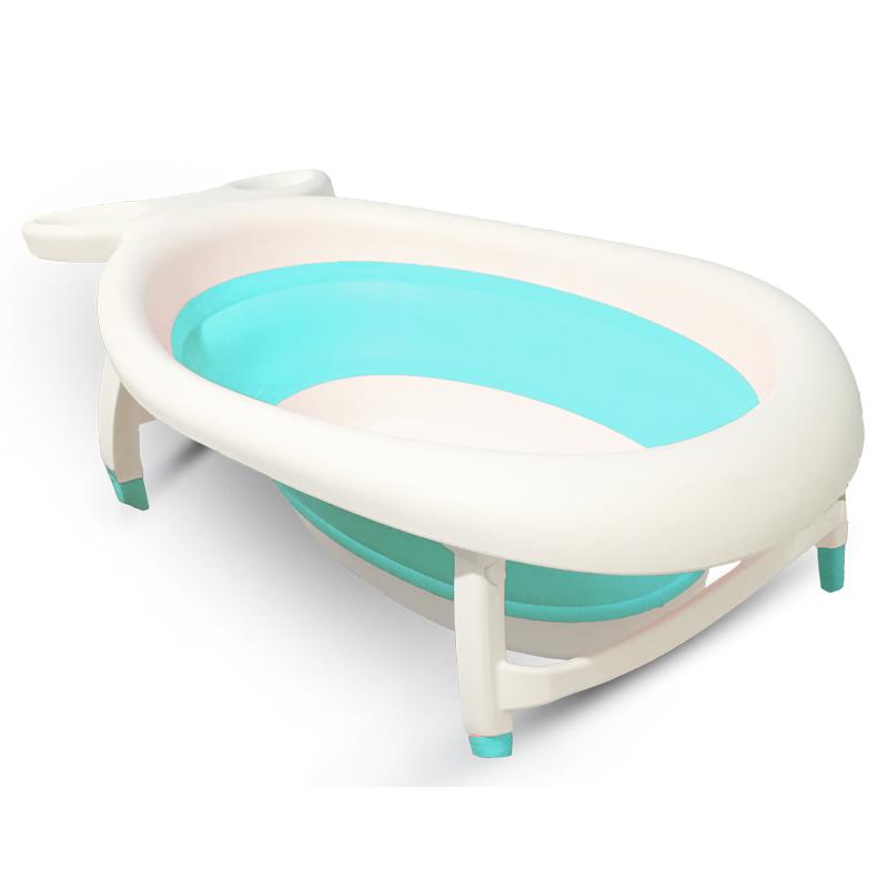 Fulai Shida Large Foldable Baby Bathtub Bathtub Sky Blue (Light Green)