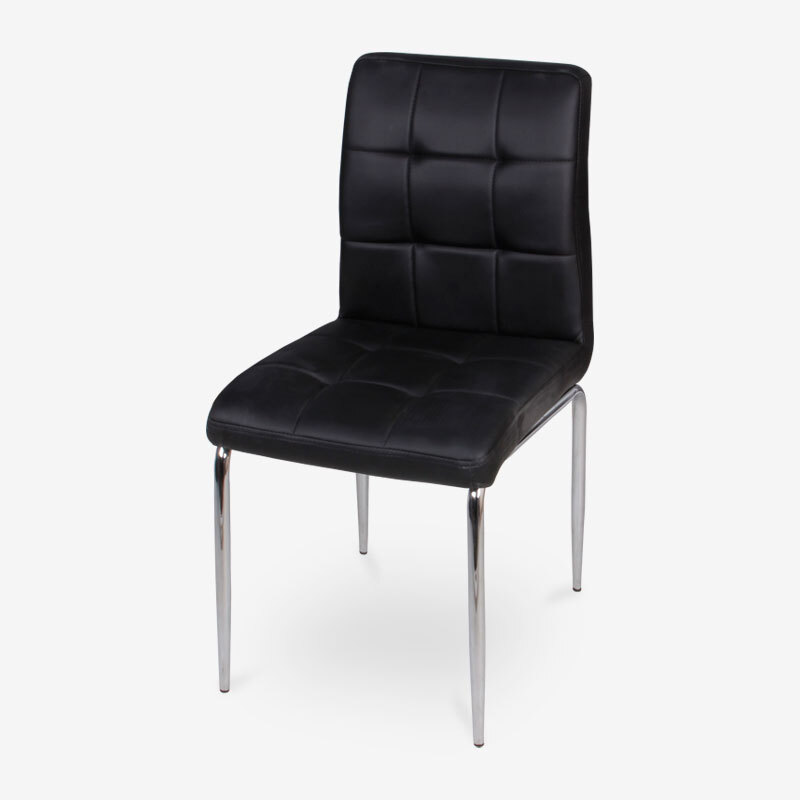 Needed Adam Series Japanese And Korean Style Simple Dining Chair Stylish  And Durable Korean Leather Computer Chair AE31C Black PU