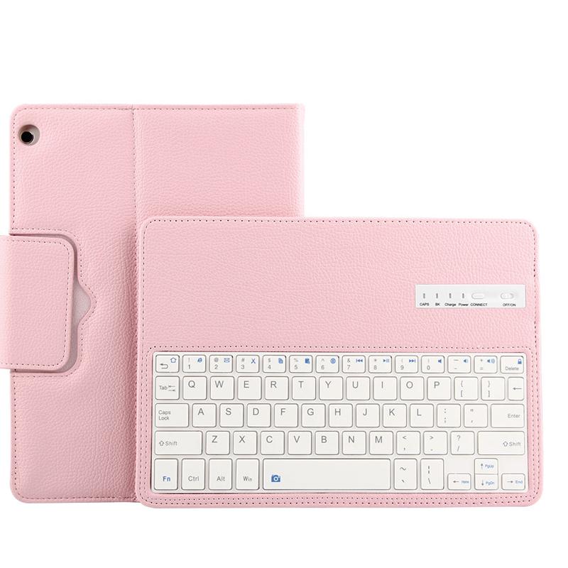 Yikelu Ykcloud Wireless Keyboard Huawei BAH-W09 M3 Youth Edition 10 1  Bluetooth Keyboard Case M5 10 8 Pink Huawei M3 Youth Edition 10 1 inches