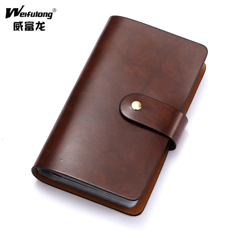 Weifu Long Men\'s Card Case Leather Men\'s Multi Card Credit Cards ...