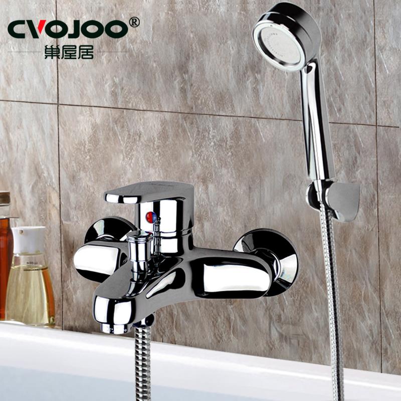 Nest house bathroom shower faucet set copper hot and cold bathroom ...