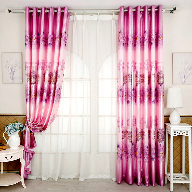 Han Xintang curtains finished simple and modern perforated bedroom ...