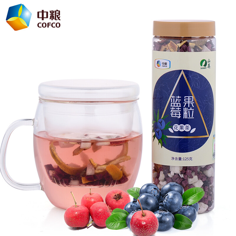 Buy three get one free] COFCO Mountain Extract Blue Berry Grain Tea