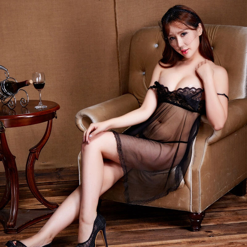 27a65cdacea Explosive space sexy lingerie women s fashion simple bud silk screen set  suspenders sexy pajamas nightdress QZBW024CR black within 120 kg