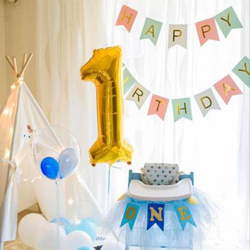 Smile Party Boy Girl 40 Inch Number 1 9 Years Birthday Balloon Set Indoor Scene Arrangement Decoration 2 Old