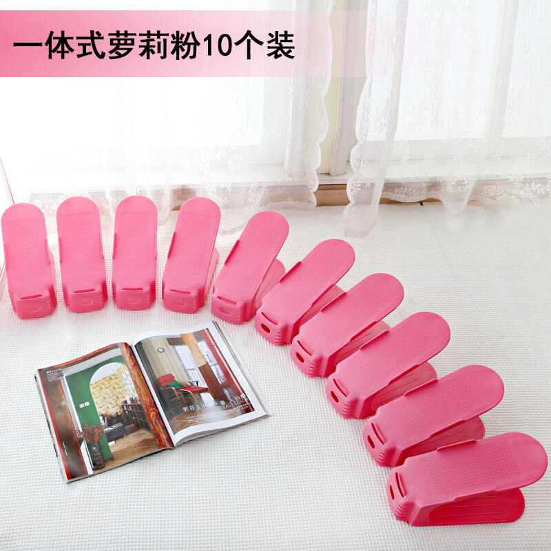 Fei enjoy home double-layer shoe storage rack plastic integrated ...