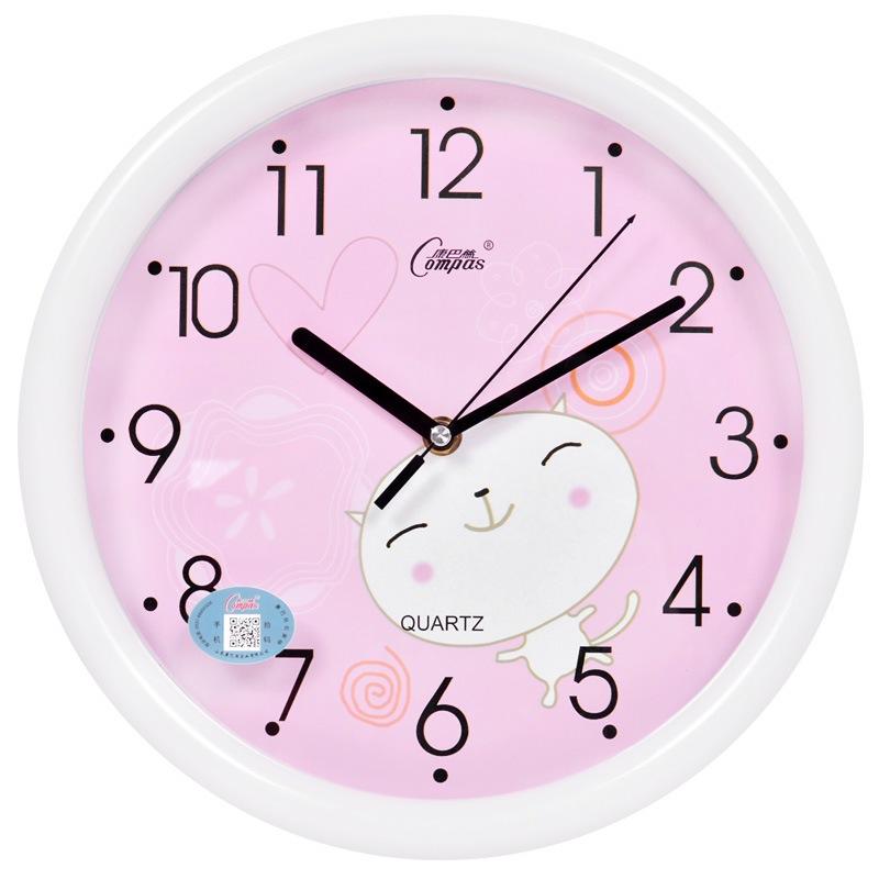 Compas fashion creative living room clock wall clock mute simple ...