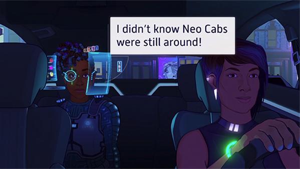 赛博朋克滴滴司机模拟Neo Cab即将发售!pc与NS平台双发售!