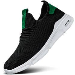 【男女款36-44码】【两双100!】 北极绒品牌 男女款运动鞋男士跑步鞋 潮流时尚板鞋子 男 黑绿-男款 41运动码