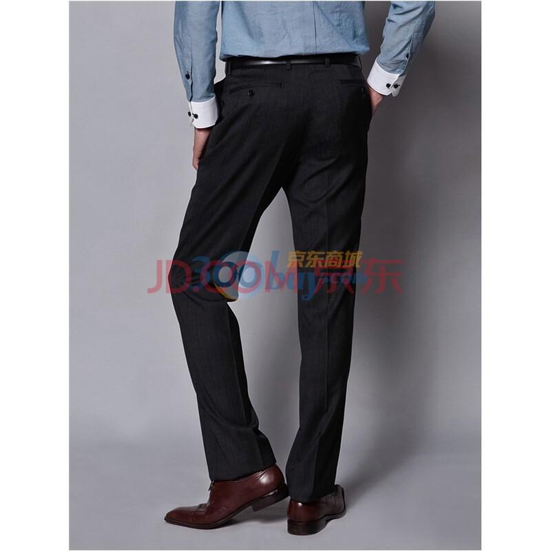 日本同���h8^yK^[�_yousoku 男士单西裤 黑色立体竖条纹 无省单西裤yk1171001-9 炭黑色