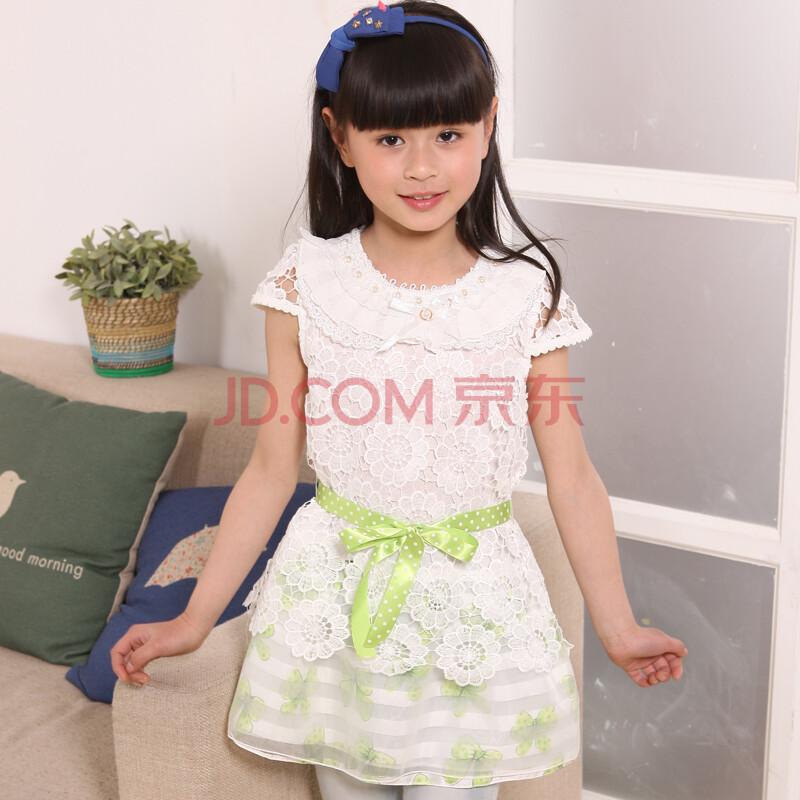 儿童连衣裙女童短袖公主裙