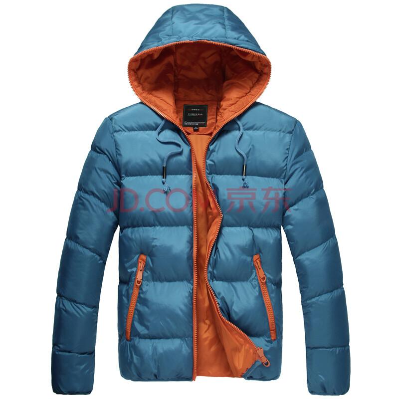 潮舒男裝冬季新款 男士加絨加厚棉衣 保暖棉襖 韓版修身時尚連帽大衣圖片