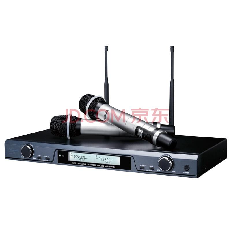 得胜(TAKSTAR) X5专业U段无线麦克风一拖二家庭KTV工程会议主持专用话筒黑色