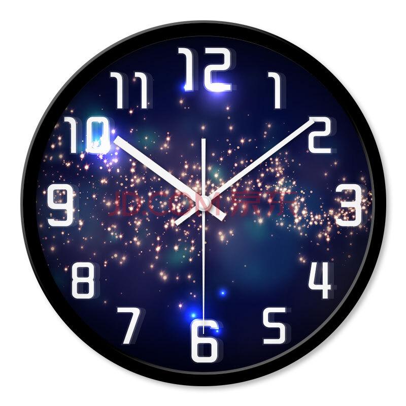 创翼(innov)客厅创意挂钟夜晚的星空梦幻银河系宇宙璀璨的星空超静音