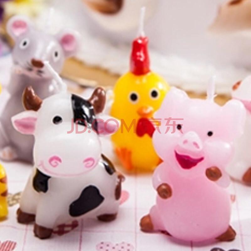 生日蜡烛 生日蛋糕蜡烛 创意无烟手工 动物蜡烛 生肖猪