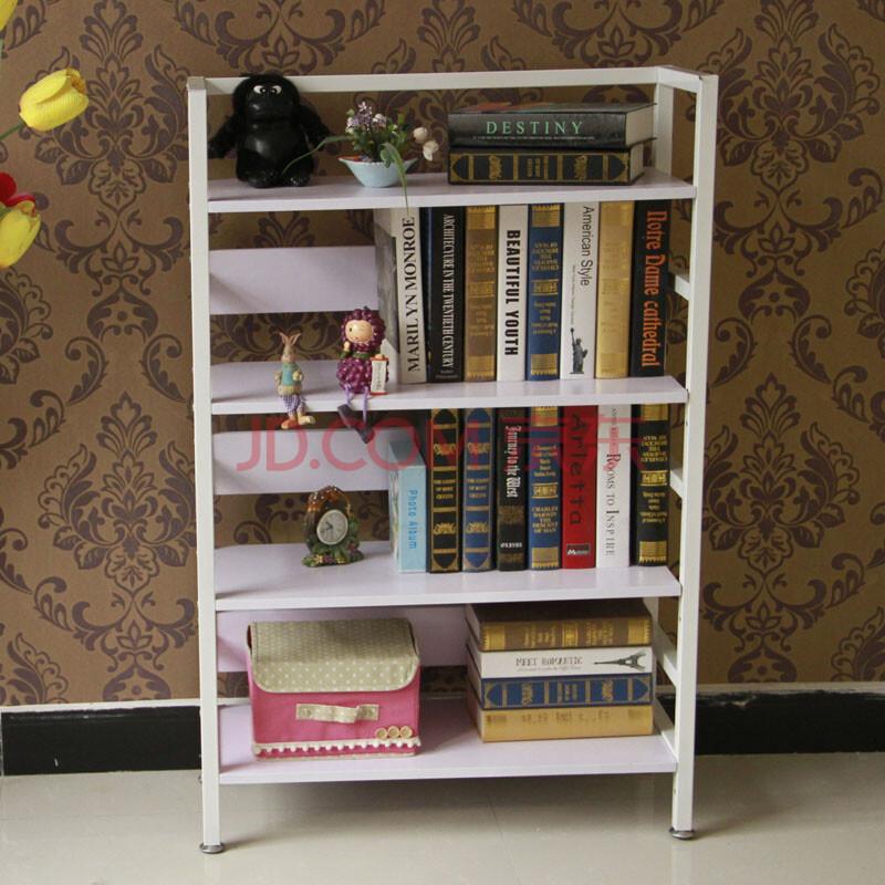 毓博 落地簡易書架組合 創意鋼木書架學生書柜辦公室桌上置物架 sj-01