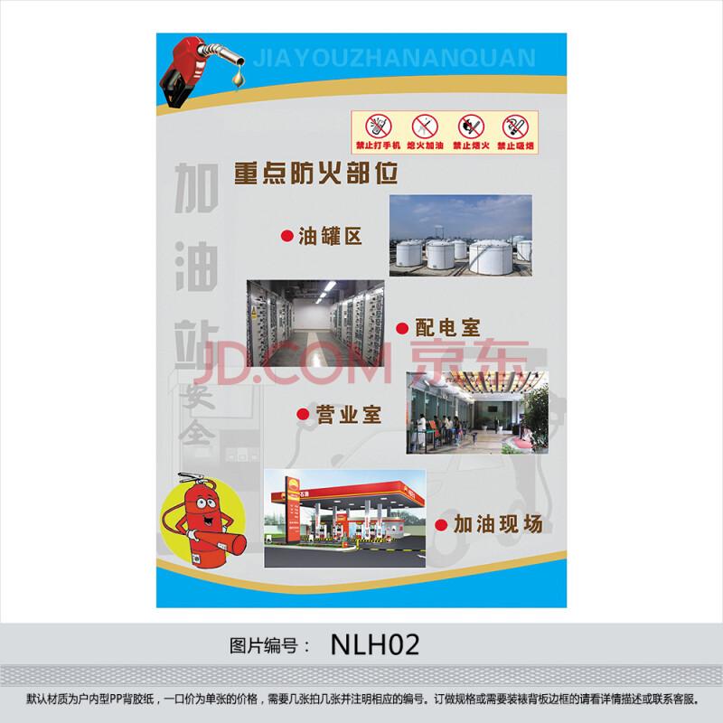 訂制安全生產宣傳掛圖 加油站安全海報 重點防火部位 貼畫nlh02 戶外