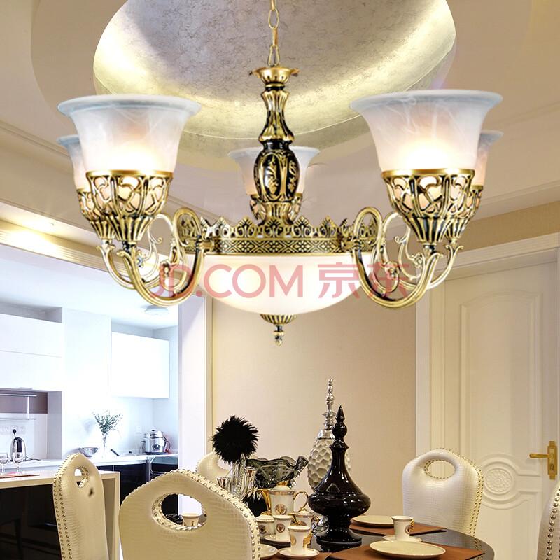戴維娜現代簡約創意歐式臥室客廳燈水晶燈吊燈燈具燈飾dd05 7頭