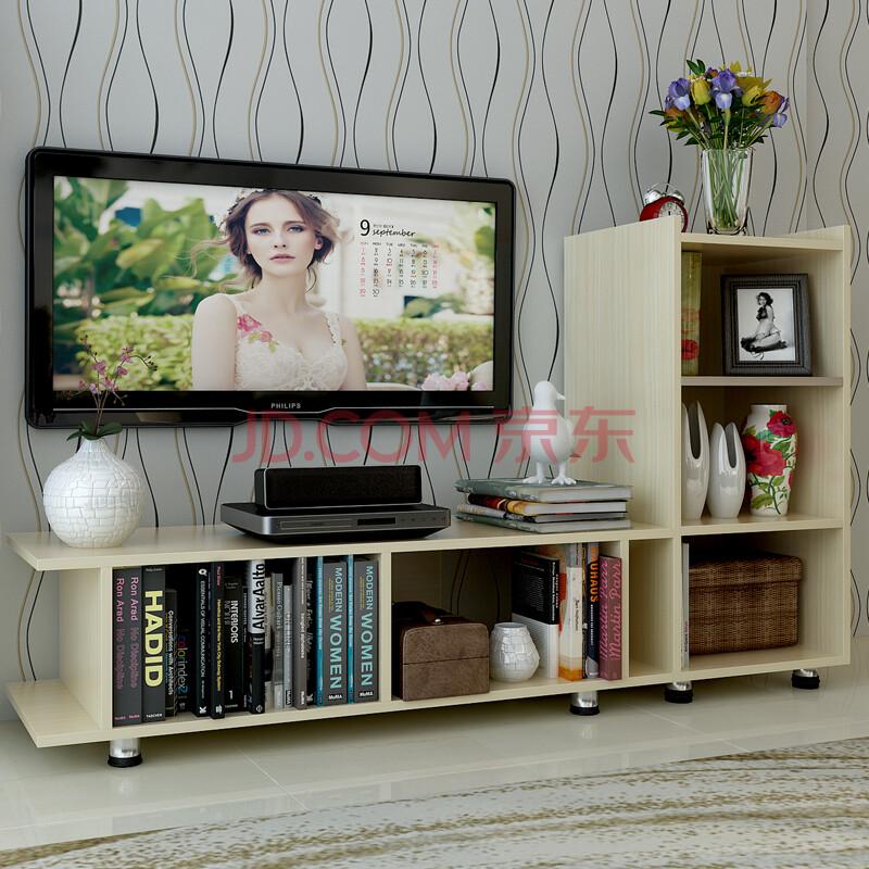 舒颐家具 厂家直销 组合电视柜 时尚简约电视柜书柜组合 白枫色 b c