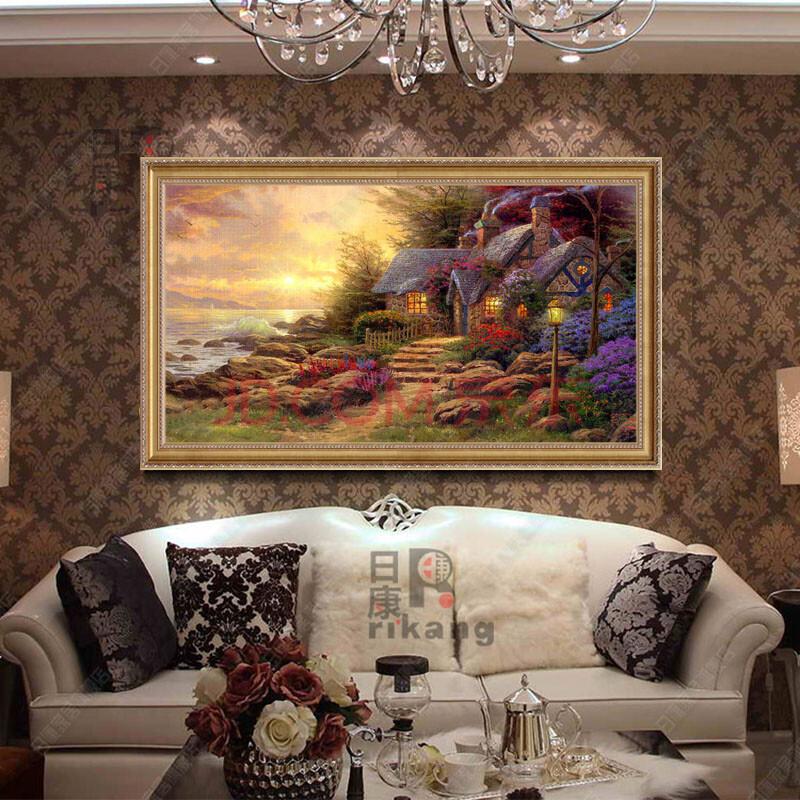歐式別墅客廳壁畫圖片大全展示