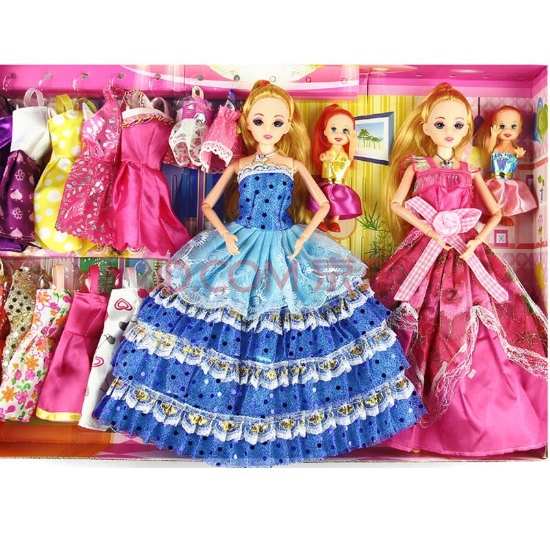 芭比娃娃套装礼盒大礼盒 儿童玩具婚纱甜甜屋 公主婚纱大礼盒 g款