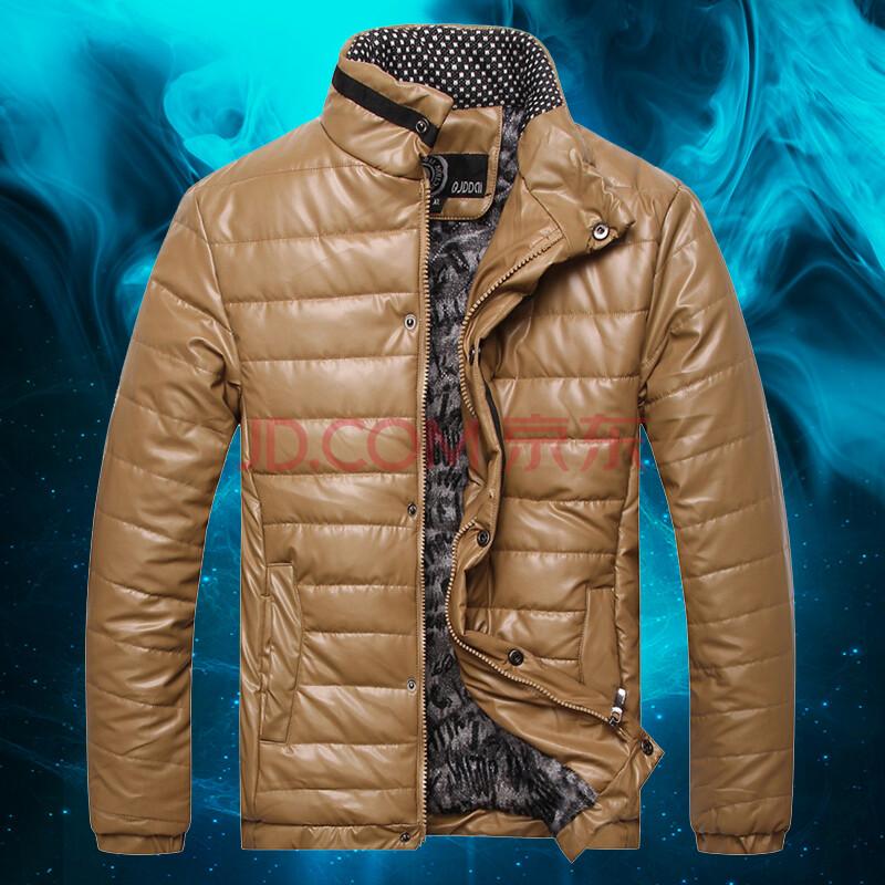 yzrl2014新冬 男士加絨加厚棉衣 棕色 xl圖片