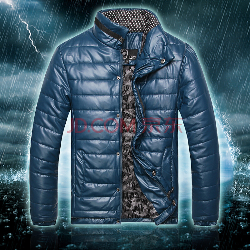 yzrl2014新冬 男士加絨加厚棉衣 藍色 xxxl