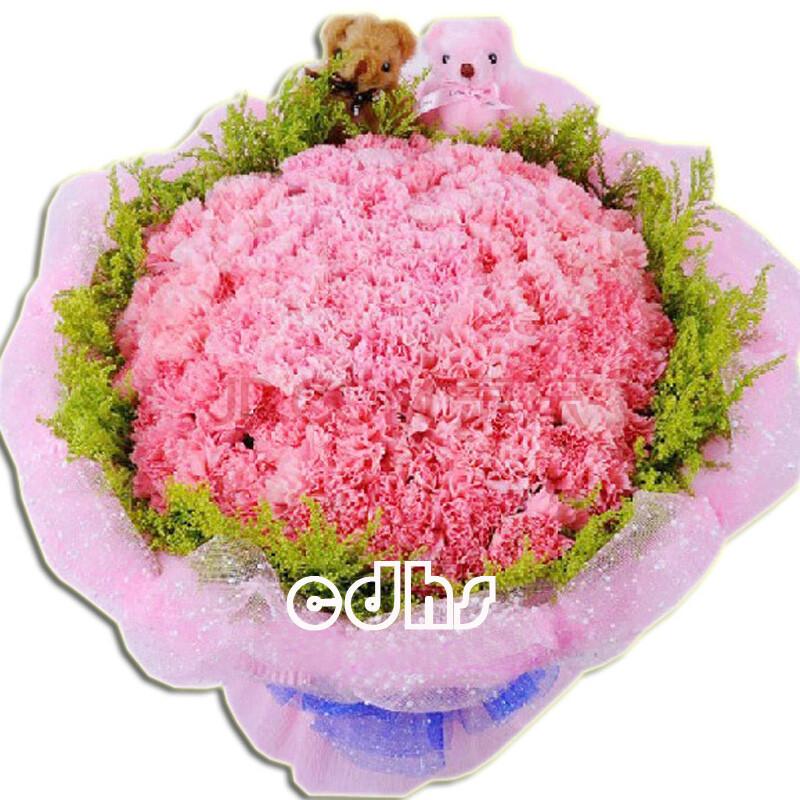 妈妈生日��.d_生日鲜花99朵粉色康乃馨花束送妈妈生日礼物鲜花速递全国深圳北京上海