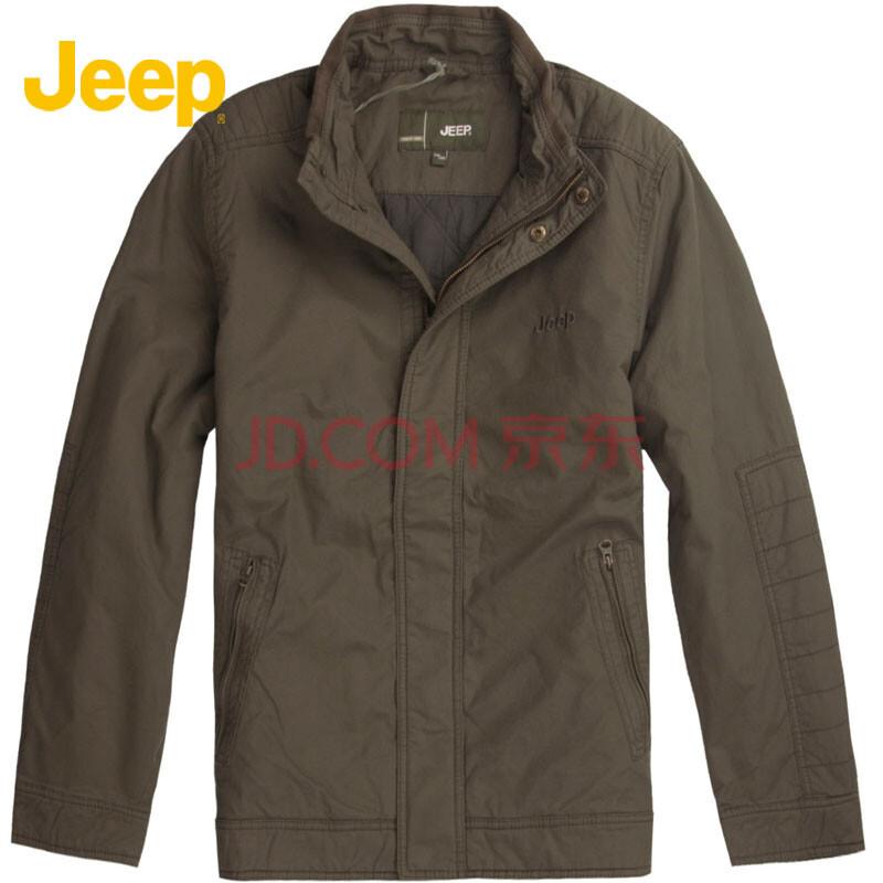 吉普/jeep男装全棉纯色拉链口袋薄棉服jw11wj220 n7 175/92b(52)