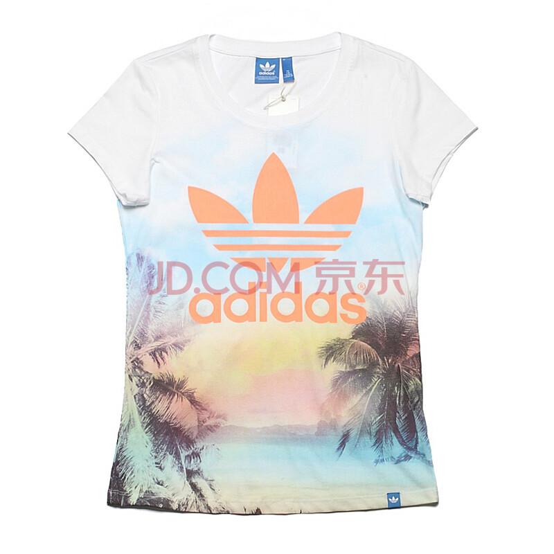 谁有�yf�yil�..���z)�h�_阿迪达斯(adidas) 女子三叶草圆领短袖t恤z f82113 l