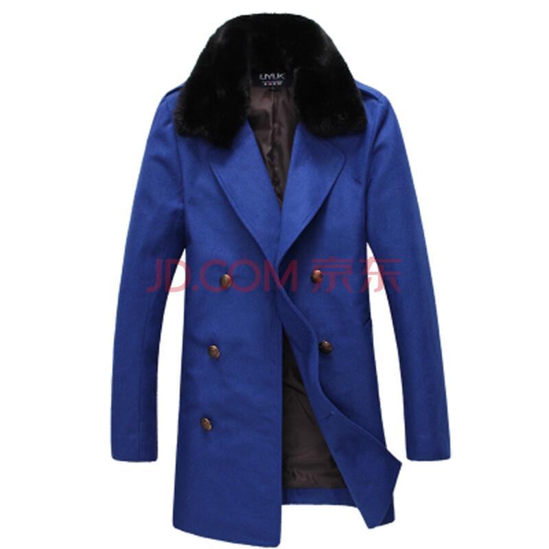 2014秋冬季男士風衣外套中長款時尚 雙排扣韓版男裝大衣 休閑軍大衣圖片
