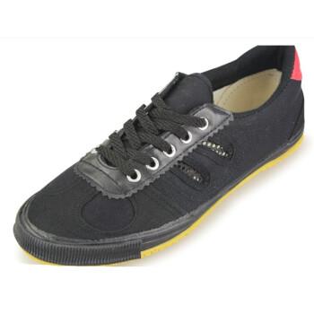 双星八特排球鞋男女情侣款训练鞋晨练鞋广场鞋休闲足球鞋运动鞋特加大号大码K32 黑色 37