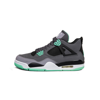 耐克乔丹女鞋价格_NIKE JORDAN 4 RETRO 乔丹4代灰绿 大红篮球鞋 308497-033 灰色 44.5【图片 ...