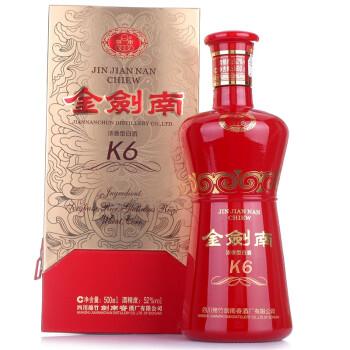 剑南春 金剑南K6 浓香型白酒 52度 500ml 135元