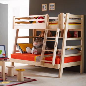 松木高低床价格_松果儿童家具 儿童床 100%进口芬兰松木 全实木1.2/1.0组合上下床 ...