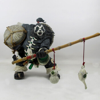 魔兽世界周边 DC正版初版熊猫人 熊猫酒仙-老陈 手办模型